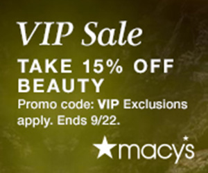 Extra 15% off Beauty with code VIP + Free Shipping at $75! Shop now at Macys.com! Valid 9/13 through 9/22.