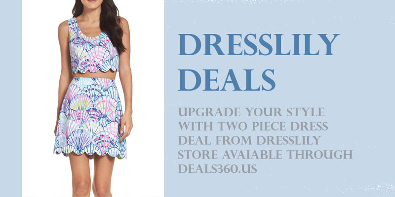 Sale on DressLily Two-Piece Printed Dress