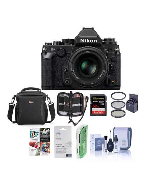 Nikon DF FX-Format Digital SLR Camera USA BUNDLE with Accessory Value Kit Deals