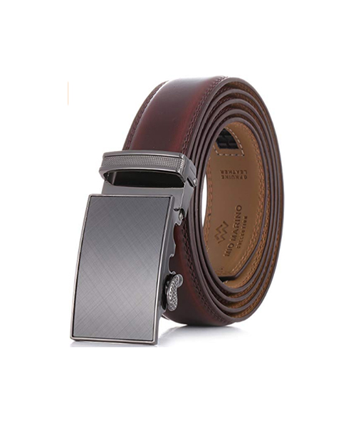 Marino Men's Genuine Leather Ratchet Dress Belt With Automatic Buckle Deals