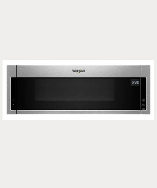 Whirlpool 1.1 cu.ft Low Profile-Over the Range Microwave-Stainless Steel Deals