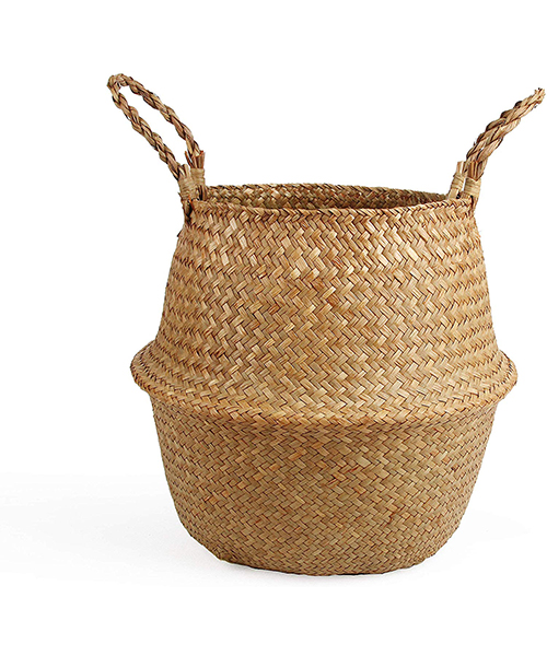 BlueMake Woven Seagrass Belly Basket for Storage Deals