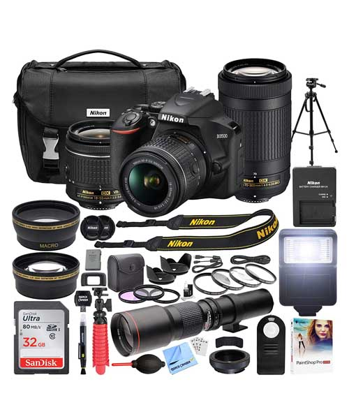 Nikon D3500 DSLR Camera with 2 Lens NIKKOR Deals
