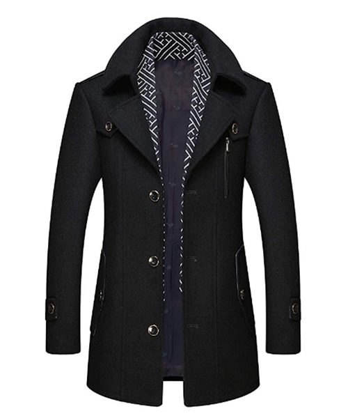 CHARTOU Men's Stylish Scarf Single Breasted Thick Winter Jacket Deals