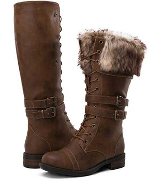 GLOBALWIN Women's Leather Fashion Boots Deals