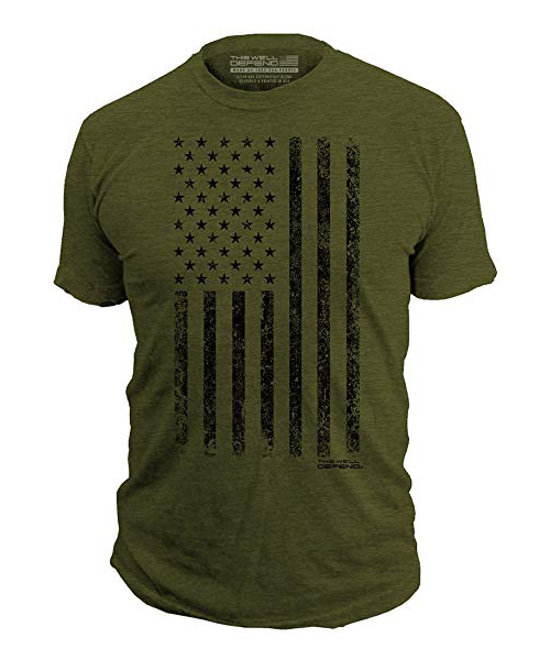 This We'll Defend - Distressed American Flag Men's Premium T-Shirt Deals