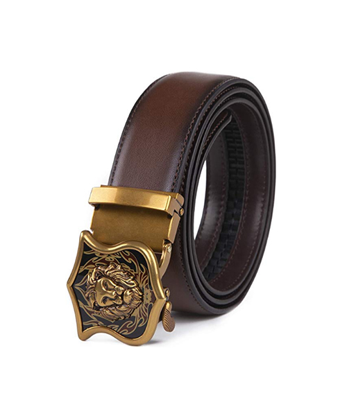 Men's Genuine Leather handmade Reversible Dress Casual Jeans Belt with Automatic