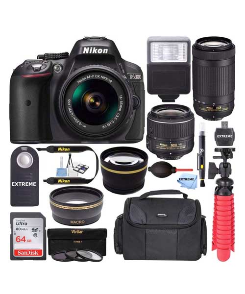 Nikon D5300 24.2 MP DSLR Camera Zoom Lens Kit Deals
