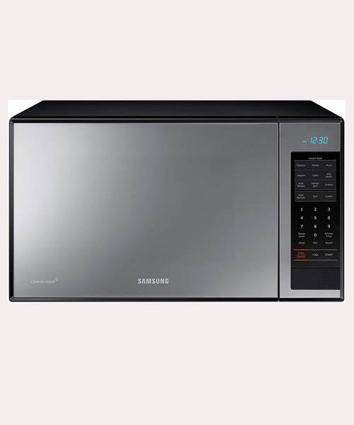 Samsung 1.4 cu. ft. Grill Microwave Oven- MG14H3020CM with Black Mirror Finish D
