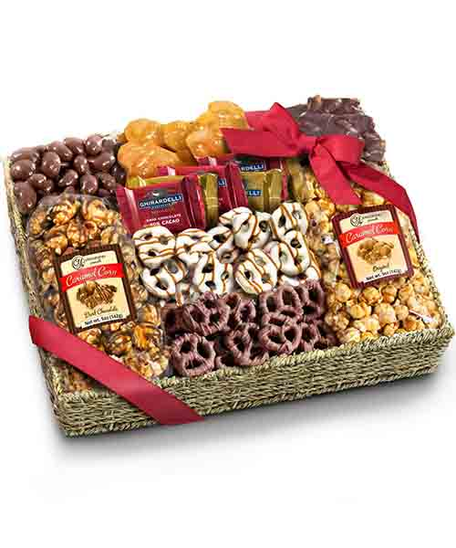 Chocolate-Caramel-and-Crunch-Grand-Gift-Basket Deals
