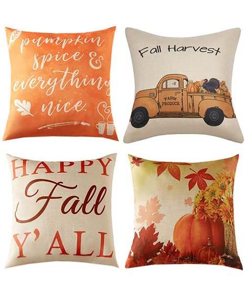 Anickal Thanksgiving Pillow Covers for Home Couch Sofa Decorations Deals