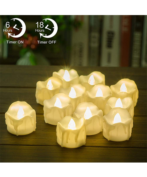 PChero Battery Operated LED Decorative Flameless Candles Deals