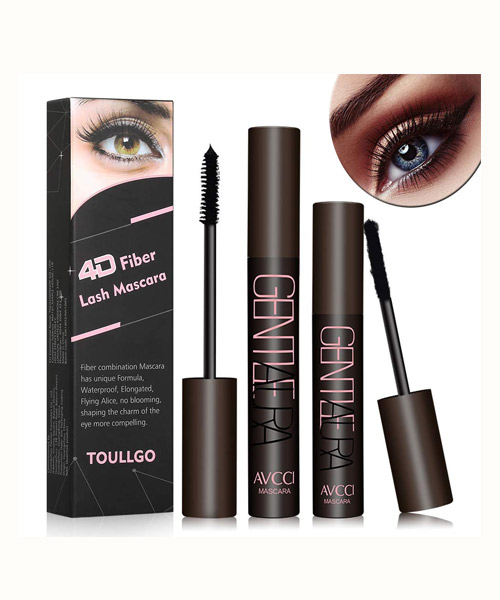4D Silk Fiber Lash Mascara, Waterproof, Smudge Proof, Long-Lasting Deals