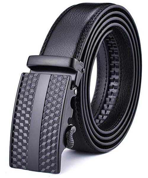 X XHtang Men's Ratchet Belt with Genuine Leather Deals