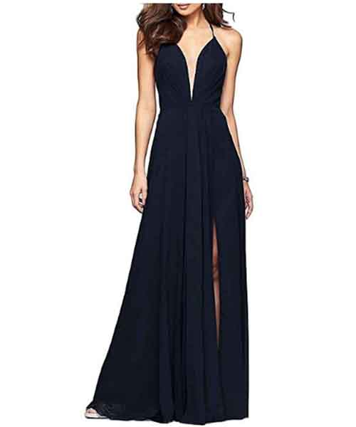 Women-Sexy-Halter-Chiffon-Spaghetti-Straps-Long-Formal-Gown Deals