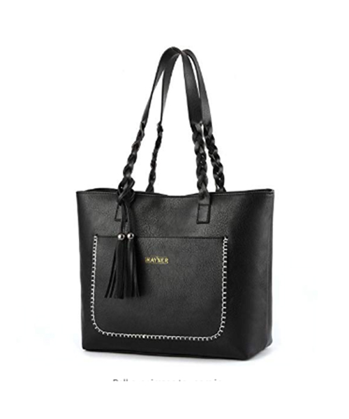 Women Tote Zippered Waterproof Travel Handbags with Tassel Deals