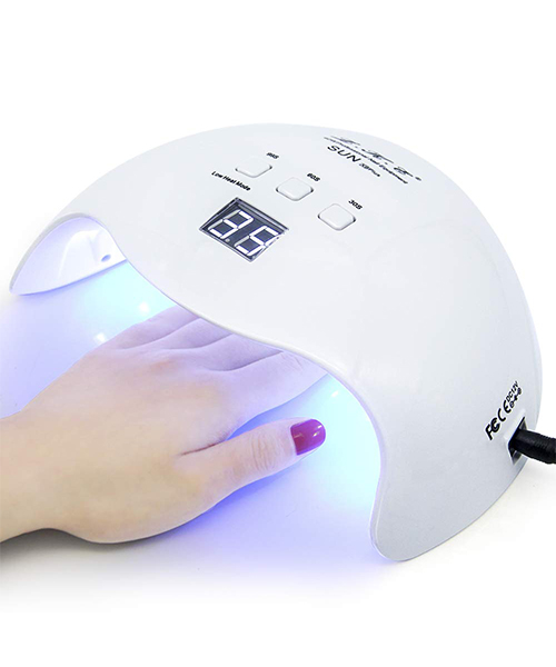 Gel UV LED Nail Lamp, LKE Nail Dryer with 3 Timers Professional Nail Art Tools D