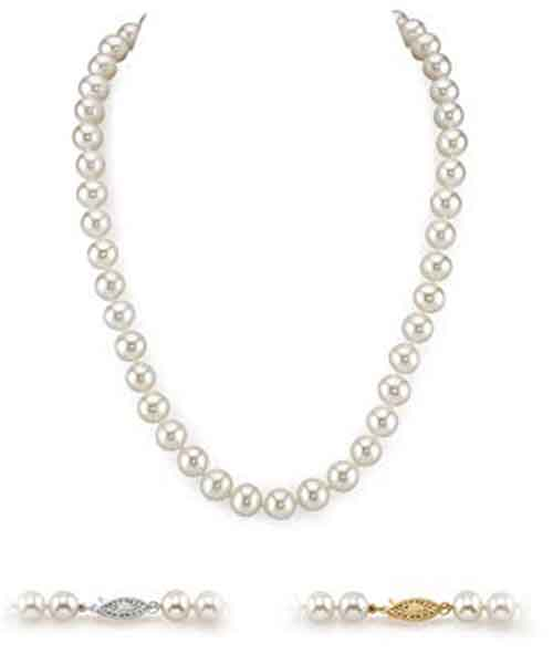 White-Freshwater-Cultured-Pearl-Necklace-for-Women Deals