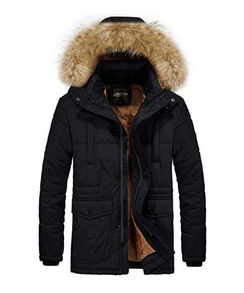 RongYue Thicken Coat Faux Fur Lined Quilted Jacket Deals