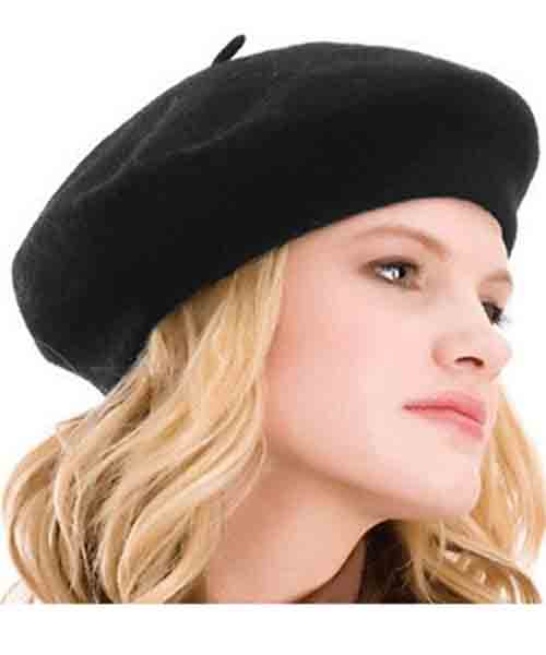 Womens-Beret-Solid-Color-Beanie-Cap Deals