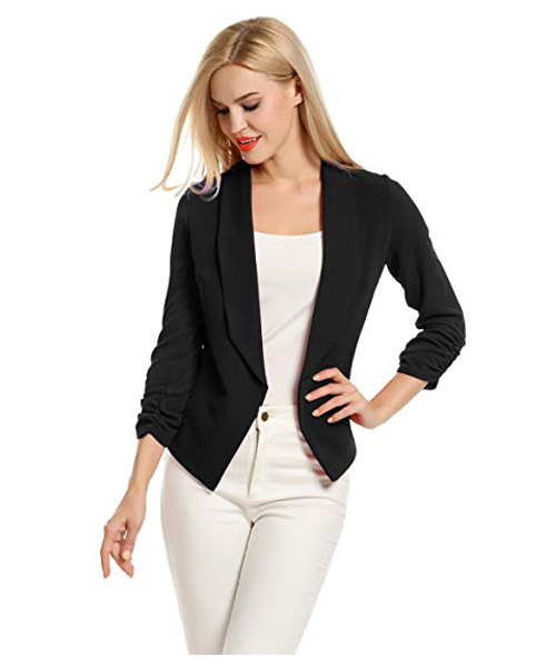 Women Open Front Cardigan Offi