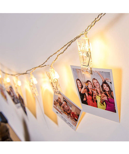 Mieeter String Lights 16 LED Photo Clips for Hanging Pictures Deals