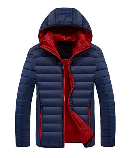 Men's Winter Lightweight Puffer Down Jacket with Hood Deals