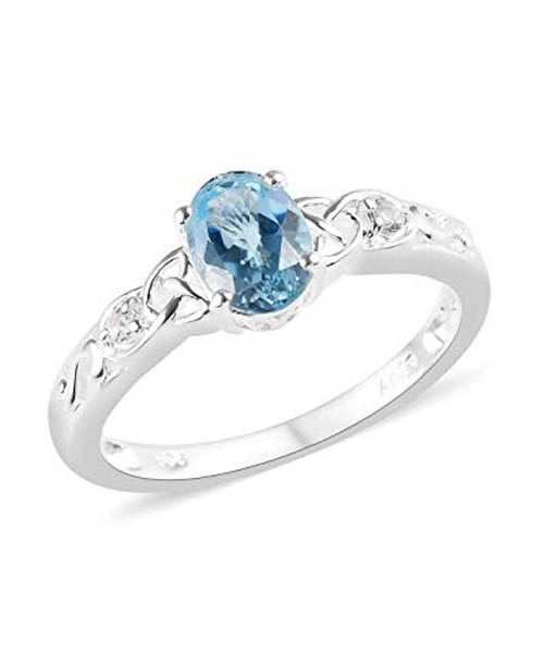 925-Sterling-Silver-Oval-Sky-Blue-Topaz-White-Topaz-Statement-Ring Deals