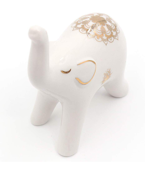 Cute Elephant Ring Holder for Counter Desk Night Stand in Bathroom or Bedroom De