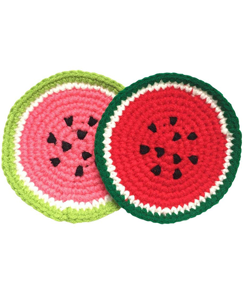 Cute Crochet Coasters for Drinks, Watermelon Cup Coaster Crochet Deals