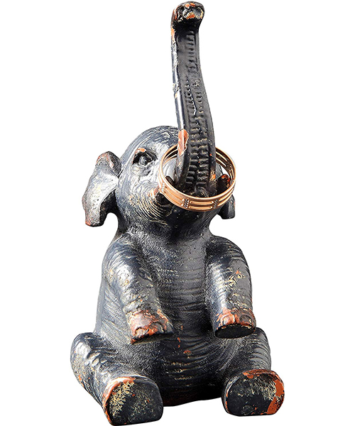 Creative Co-op Pewter Elephant Ring Holder Deals