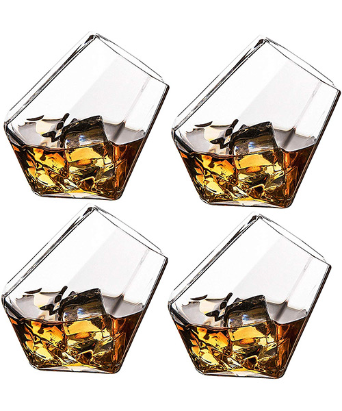 The Wine Savant Diamond Whiskey, Scotch or Wine Glasses Deals