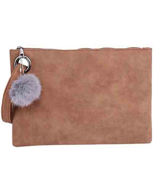 UOFOCO-Women-Leather-Zipper-Clutch-Bag Deals