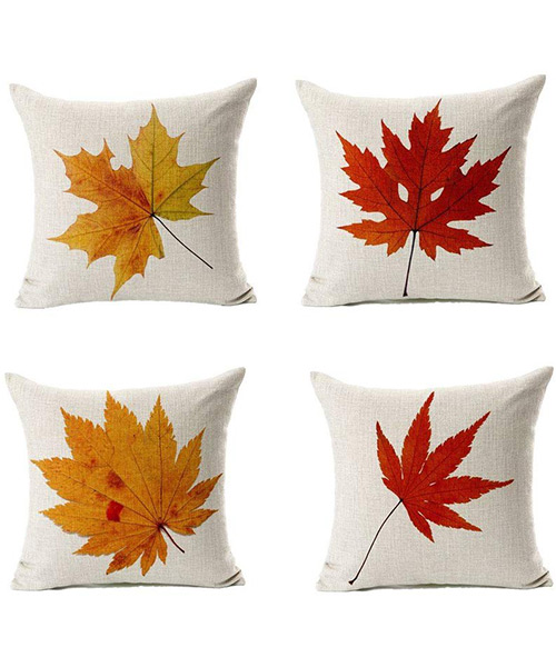 All Smiles Decorative Fall Throw Pillow Covers Cases for Patio Couch Home Sofa D