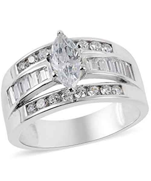 925-Sterling-Silver-Marquise-Cubic-Zirconia-CZ-Statement-Ring Deals