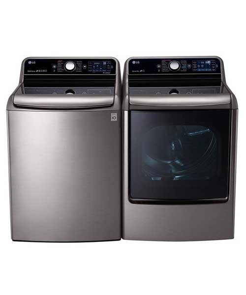 LG Graphite Steel Top Load Laundry pair with WT7700HVA 29 |Eletric Dryer Deals