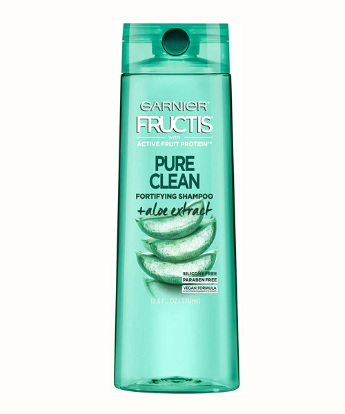 Garnier Fructis Pure Clean Shampoo, Silicone-Free, Paraben-Free with Aloe Extrac