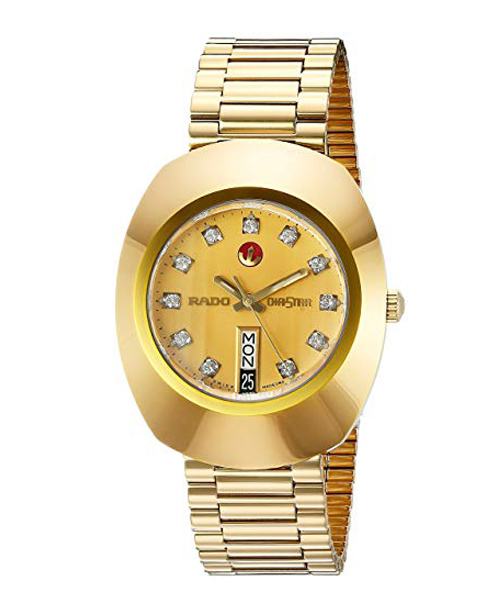 Rado Men's Gold Dial Watch Dea