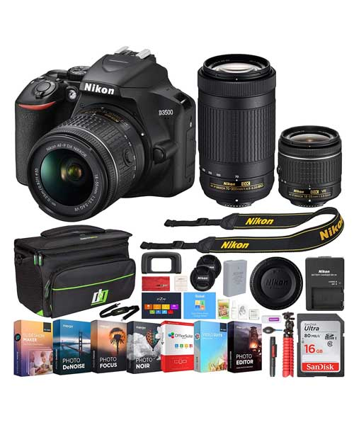 Nikon D3500 24.2MP DSLR Camera Dual Zoom Lens Deals